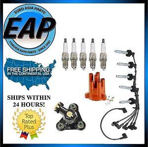 For Volvo 850 S70 V70 2.3 Ignition Wire Set Spark Plug Distributor Cap Rotor KIT