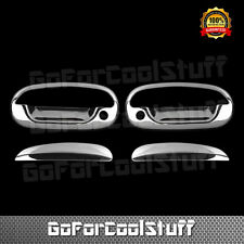 For FORD F-150 Heritage 2004 Chrome 2 Doors Handles Covers W/Out Key Pad