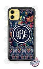 Paisley Monogram Design Custom Phone Case For iPhone 11Pro Samsung A50 LG Google