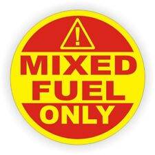 2-inch MIXED FUEL ONLY Vinyl Decal | Dirt Bike MX Tank Gas Oil Mix Sticker Label