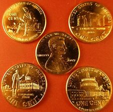 1 COMPLETE SET (8 COINS) P & D MINT PENNY'S OF THE 2009 LINCOLN BICENTENNIAL