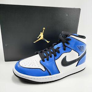 Nike Air Jordan 1 Mid SE Shoes Men's Signal Blue / Black / White DD6834-402 NEW