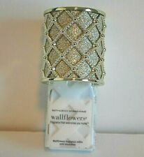 Bath & Body Works Wallflower Quilted Gold Home Fragrance Diffuser Wall Plug New
