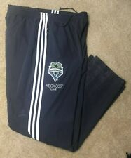 2009 Seattle Sounders FC XBOX 360 Live - adidas 3 Stripes Grey Track Pants RARE