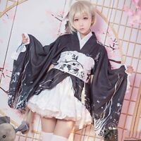 Anime Kasugano Sora Cosplay Costume Dress Kimono Bathrobe Japanese Yosuga Womens