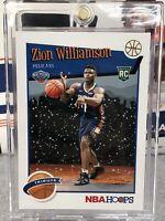 Zion Williamson 2019-20 Panini NBA Hoops #296 Rookie Card RC Winter Tribute Pels