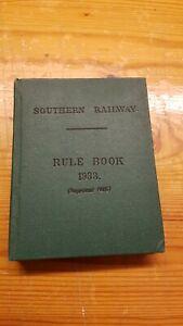 Southern Railway Rule Book 1933 Reprinted 1945