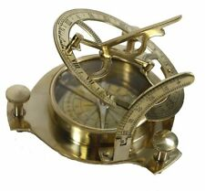 Sundial Compass Brass Nautical Maritime Antique Vintage Style London Collect New