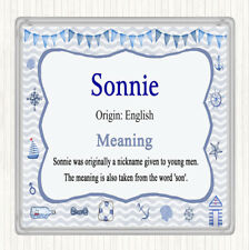 Sonnie Name Meaning Drinks Mat Coaster Nautical