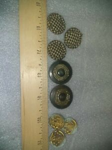 Vintage Mixed lot Bakelite, plaid, and floral design buttons