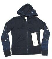 Da-Nang Surplus Women's Hooded Sweater Hooded Beaded BLACK FTG10381919 SMALL S