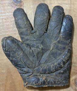 Rare Antique Early 1900s Spalding Webless Crescent Baseball Glove Workman Mitt?