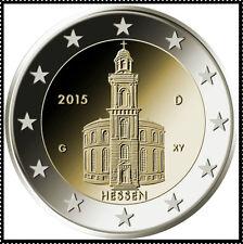 2 EURO *** Allemagne 2015 Duitsland *** Hessen - Paulskirche ADFGJ *** 2015  !!!
