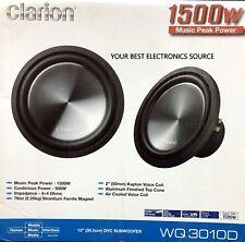 """NEW CLARION WQ3010D 12"""" Dual Voice Coil, 4 ohm WQ Series Car Subwoofer"""