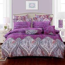 royal paisley luxury cotton bedding set: 3pc/5pc duvet cover set or accessories