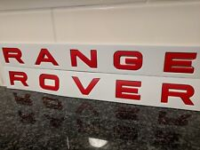 *** FREE SHIPPING *** MATTE Red RANGE ROVER - Badge Decal Emblem Logo Sticker