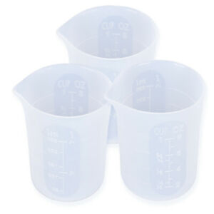 Transparent 250ML Silicone Resin Measuring Cup Mould DIY Jewelry Making TooD Dh