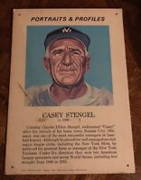 """CASEY STENGLE 1970 Portraits & Profiles Display Cards FORTE 13 1/2 """" X 19 1/2"""""""