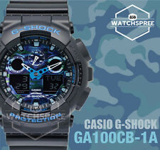 Casio G-Shock Blue tone Camouflage GA-100 Series Watch GA100CB-1A AU FAST & FREE