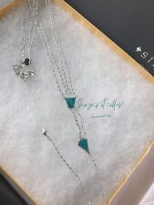 Silpada N3428 Reversible Double Y-necklace Turquoise & Sterling Silver