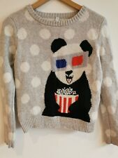 Henry Holland Grey Mix Knit Jumper Panda 8 <BP118