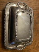 """Vintage Silver Plated Covered Casserole Serving Dish 9""""x6 1/2 1847 Rogers 17-49"""