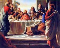 Jesus's Last Supper Christian Religious Wall Decor Art Print Picture (8x10)
