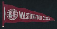 Washington State College _ORIGINAL 20's Die Cut Sticker vtg NCAA Cougars pennant
