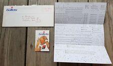 1974-75 Washington Bullets NBA Original Team fan response envelope & letterhead