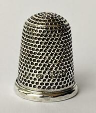 CHARLES HORNER ANTIQUE STERLING SILVER THIMBLE SIZE 5​