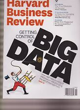 HARVARD BUSINESS REVIEW MAGAZINE OCTOBER 2012, GETTING CONTROL OF BIG DATA.