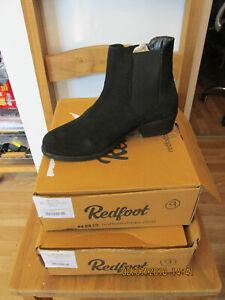 Redfoot Ladies Suede Black Chelsea Slip On Boots UK 4/Euro 37 RRP £69