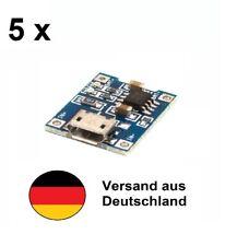 5 Stück Micro USB Lithium LiPo Akku Batterie 18650 Lademodul 5V 1A wie TP4056
