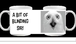 SIMPLY LOVELEH NOVELTY MUG OWL PLENTY IN THE TANK BLINDING SIR BLOODY GOOD SHOT