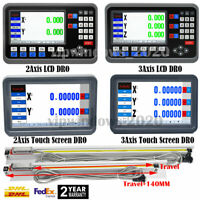 LCD Digital Readout 2Axis/3Axis DRO Display Linear Scale Glass Sensor CNC Mill