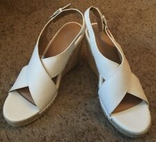 NEW Apt. 9 White Creme Wedge Pumps Sandals Shoes Size 9