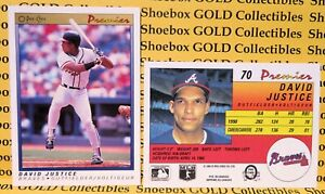 David Justice, 1991 O-PEE-CHEE Premier Canada Card #70, Atlanta Braves