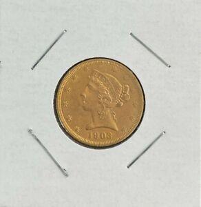 1903-S Liberty Head $5 Dollar Gold Coin