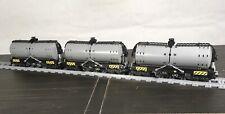Lego Custom Train Tanker Car Dark Bluish Grey (Single (1) Car)