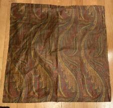 NEW Ralph Lauren Great Barrington Euro Pillow Sham Wine Gold Paisley Sateen