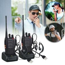 HOT Baofeng BF-888s Walkie Talkie Long Range 16CH 2 Way Radio Sets + Earpieces