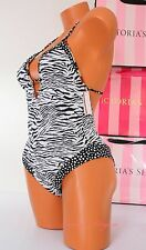 VS Victoria's Secret 1 One Piece Swim Suit Padded Plunge Cheeky S Small Animal