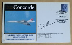 CONCORDE SUPPORTERS CLUB CHARTER FLIGHT 1978 COVER SIGNED BY CAPTAIN PAT ALLAN