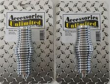 2 Lot Accessories Unlimited Auc30 Cb Radio Chrome Plated Potbelly Barrel Spring