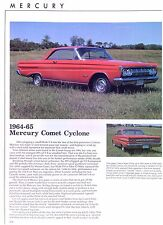 1964 1965 1966 1967 Mercury Comet Cyclone GT info spec prices production 4 pages