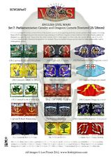 10MM TEXTURED SET 7 PARLIAMENTARIAN CAVALRY CORNETS - ENGLISH CIVIL WAR FLAGS