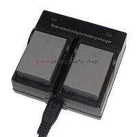 Dual Charger +2x Battery for Olympus BLN-1 OMD E-M5 E-M1 EM1 EM5 Mark II EP5 PEN