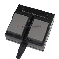 Dual Charger +2x Battery for Olympus BLN1 BCN-1 OM-D E-M5 E-M1 EP5 PEN-F 1999mAh