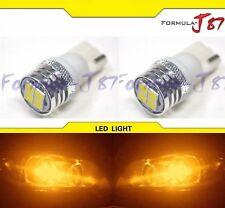 LED Light Error Free Canbus 168 Orange Amber Two Bulb Side Marker Map Trunk Dome