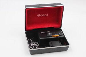 Rollei A110 COMPACT FILM CAMERA Tessar 23mm F/2.8 Lens w/ Original Box WORKING